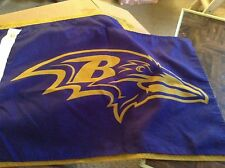 Pair of Baltimore ravens color rush game day flags.