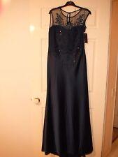 Designer Rengin Navy Formal Sequin/Beaded Dress Size 16