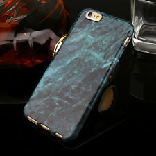 Slim Retro Granite Marble Pattern Soft TPU Case Cover For iPhone X 5 8 7 6S Plus