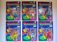 6 figure dei gladiatori MOTU KO MOC Galaxy Guerrieri Wrestling Lottatore Wrestler anni'80