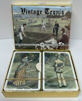 "Classic Piatnik Playing Cards ""Vintage Tennis"" 2 ORIGINAL UNPLAYED SEALED DECKS!"