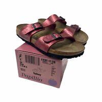 Birkenstock Papillio Syndey Wild Rose Birko-Flor 2-Strap Sandals Sz 8 EU 39