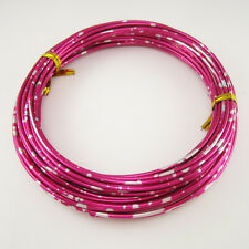 2 Rolls of 2mm colored jewelry craft wire 10 meters per roll