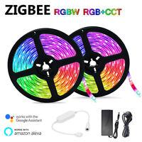 TUYA ZigBee Controller RGBW RGB+CCT 5050 Led Strip Alexa Google Voice Control