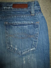 ABERCROMBIE & FITCH Flare 100% Cotton Med Blue Denim Jeans Womens Size 2 R x 32