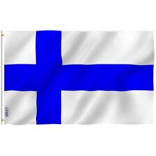 ANLEY Finnish Flag Finland National Banner Polyester 3x5 Foot Country Flags