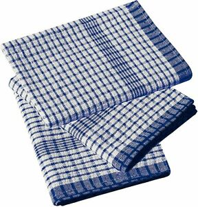 Wonderdry Blue Tea Towels 100% Cotton Kitchen Cloths Cleaning Drying 2 5 OR 10