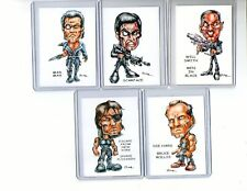 Action Heroes #2 (5 Cards) Art Prints Die Hard Mad Max Men In Black Scarface
