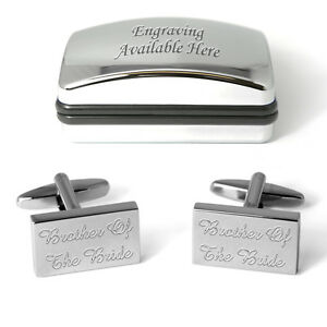 Brother Of The Bride Cufflinks Engraved Gift Box Personalised Wedding Present