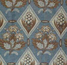 CLARENCE HOUSE Du Midi Provencal Printed Linen Blue Floral France New Remnant
