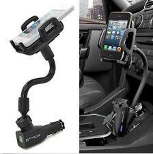 I10 2USB Car Cigarette Lighter Mount Holder Charger For Mobile Phone GPS MP3 4 5