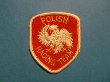 Vintage 1970's Polish Racing Team Grand Prix Rally Car Hat Jacket Uniform Patch