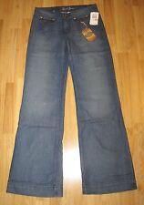 EARL JEANS wide leg cut 28 10-12 long RP£120 New button pocket boyfriend