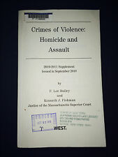 Book: Crimes & Violence: Homicide & Assault 2010-2011 Supplement : Free Shipping