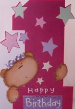 1st Birthday Card  with White Envelope