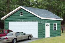 20 x 24 Two Car Garage Plans / Workshop Shade Building Blueprints, Design #52024