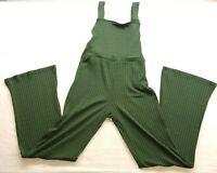 LA Hearts Green Striped Bodice Jumpsuit Jumper Overalls Overall Size Medium New