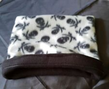 Snuggle Pouch Cuddle Pouch Bag Sack Ideal For Guinea Pig Rat  - Skull Design