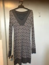 Metalicus Grey And Navy Dress In One Size