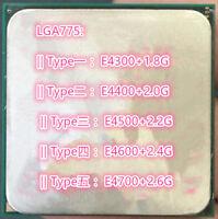 Intel Core2 DUO E4300 E4400 E4500 E4600 E4700 LGA 775 CPU