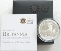 2012 Royal Mint British Britannia £2 Two Pound Silver Proof 1oz Coin Box Coa