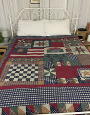 New ListingVintage Primitive Americana Handmade Country Folk Art Patchwork Farmhouse Quilt
