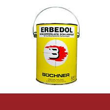 Büchner Erbedol RAL3002 karminrot Lack Farbe Kunstharzlack 2500ml 13,18€/L