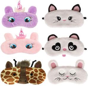 Eye Mask Travel Sleep Beauty  fun fluffy Bunny Cat animal