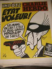 Charlie Hebdo N°485 27/2/1980 Caricature Cavanna Wolinski Cabu Charb Impots