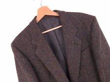 KU774 Harris Tweed Blazer Vintage Originale Premium tessuti a mano pura lana taglia 40