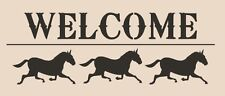 Stencil WELCOME Horses Farm Sign Pillow Crafts Country Cottage Primitive