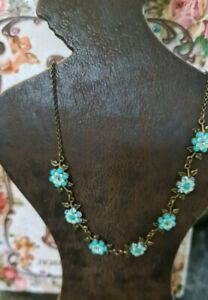 Michal Negrin Necklace Turquoise  Flowers