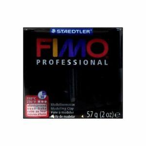 2 blocks Fimo Professional Soft Polymer Clay 2oz Black