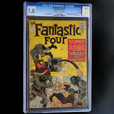 FANTASTIC FOUR #2 🔥CGC 1.8 OW/W UK Edition Price Variant🔥 1st App the SKRULLS!