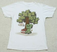 White Tee T-Shirt Top Small Guys Short Sleeve Cotton Love Bomb TNT Tree Graphic