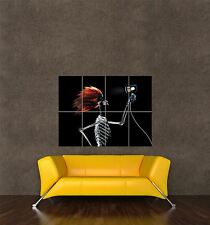 POSTER PRINT PHOTO COMPOSITION FUNNY HUMOUR XRAY SKELETON HAIRDRYER WIG SEB309