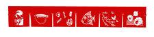 red sushi noren curtain 6 panel valance shop bar doorway kitchen deco printed 8r