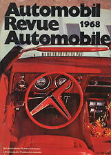 Automobil Revue Automobile 1968 • Catalogue Number • VERY GOOD
