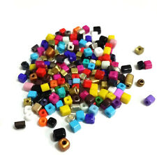 New 160pcs 3-4mm Loose Charm Square Glass Spacer Beads DIY Jewelry Making Mixed