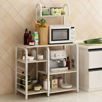 3/4-Tier Microwave Oven Cart Bakers Rack Kitchen Storage Shelves organizer Stand