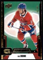 2019-20 Credentials Green Parallel #43 Max Domi /99 - Montreal Canadiens