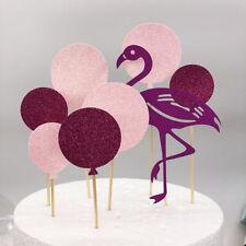 Flamingo Cake Topper Happy Birthday Hot Pink Party Celebration Cake Decoration
