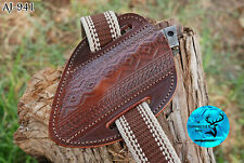 HAND MADE PURE COW LEATHER SHEATH FOR KNIVES & OTHER TOOLS - AJ  941