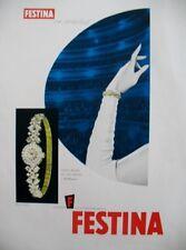 PUBLICITE DE PRESSE FESTINA MONTRE FEMME LA HORA DEL RELOJ SPANISH AD 1962