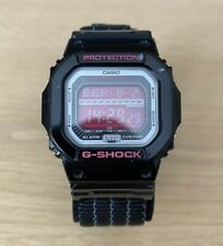 Para hombre Casio G-lide G-shock Reloj Alarma GLS-5600V - Negro Brillante Y Rosa