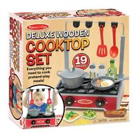 Melissa and Doug Deluxe Wooden Cooktop Set - (Damaged Retail Packaging) - 19288