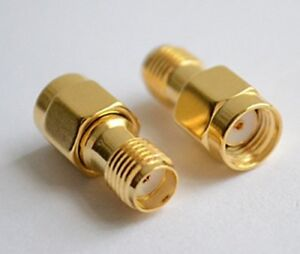 2x RP SMA Male Plug to SMA Female Adaptor Coaxial Connector UK Seller
