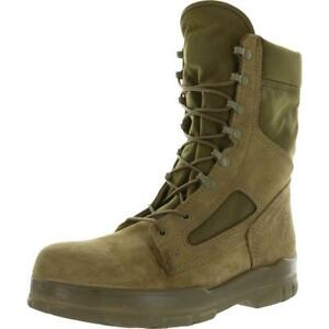 Bates Mens USMC Durashocks Tan Lace-Up Boot Shoes 9 Extra Wide (EE)  BHFO 1431