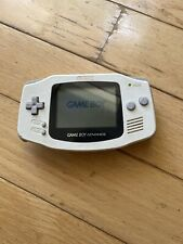 Gameboy Advance GBA White AGB-001 Handheld Console (NO Battery Cover)Works Great