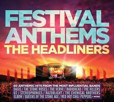 FESTIVAL ANTHEMS THE HEADLINERS 3 CD SET VARIOUS ARTISTS (May 25th 2018)